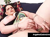 Cuban Latina Angelina Castro Slides Her Toy In & Out & Cums!