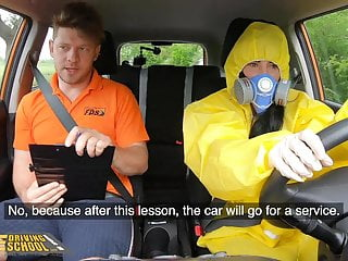 Fake Driving School, Lexi Dona Takes Off her Hazmat Suit