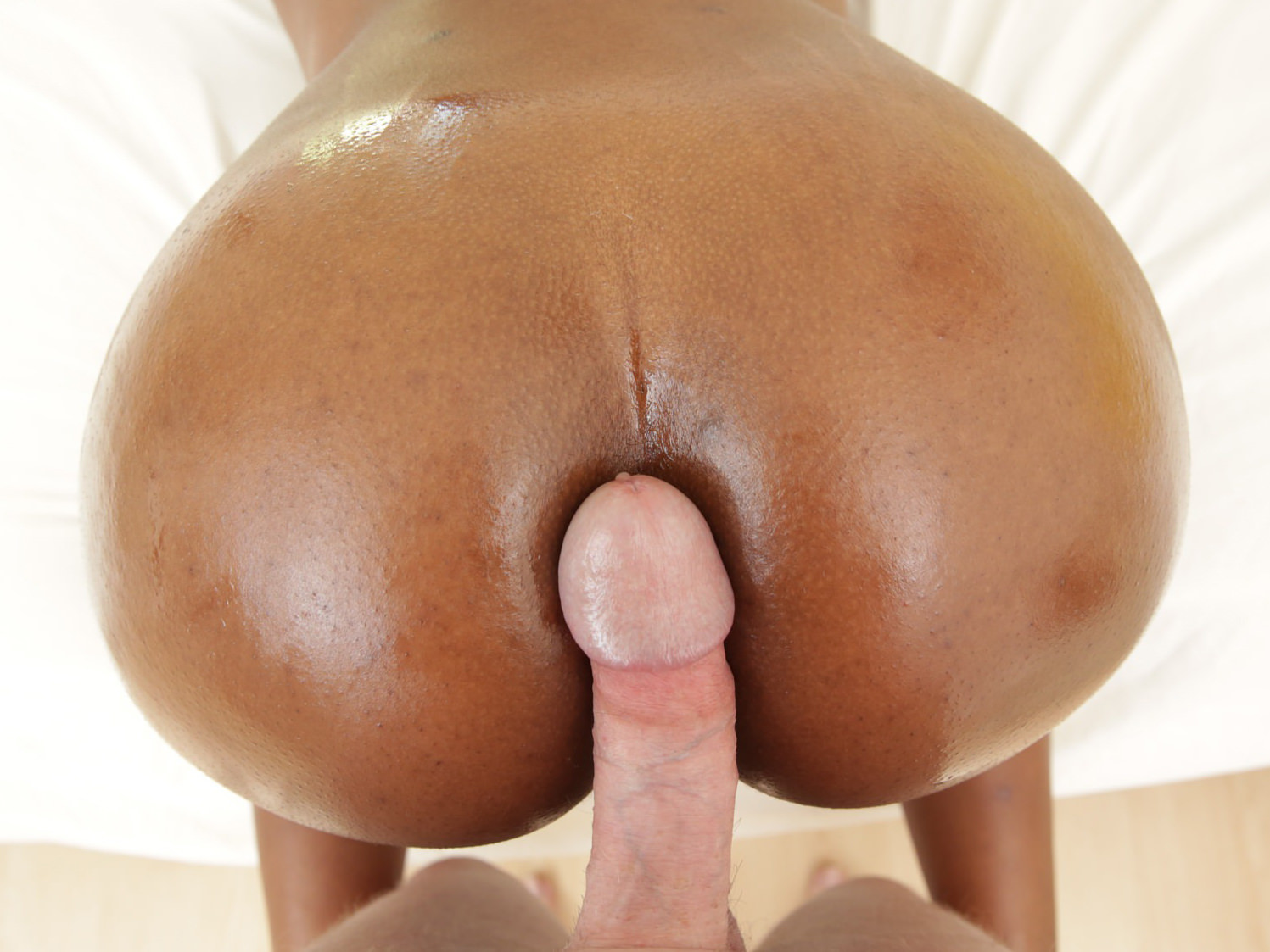 Huge Black Ass White Dick