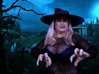 HOT MILF WITCH - HALLOWEEN SPELL AND A SEXY DANCE IN CEMETER