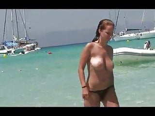 group of topless friends on the beach  one with huge titsporno videos