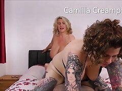 At Home with The Creampies and Inara on the bed – promo
