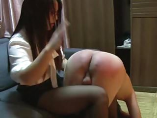 Chinese femdom spanking...