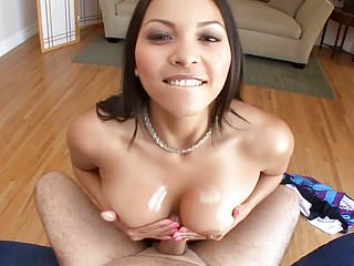 Busty Asian Adrianna Luna point of view'd