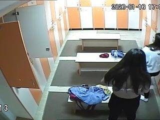 Stockings Lingerie Softcore video: Women's locker room