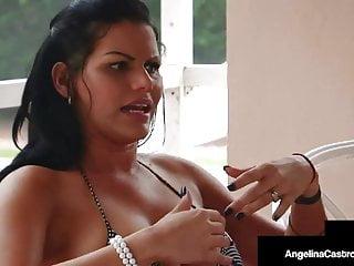 Cuban BBW Angelina Castro Fucks Big Black Cock In Fight Cage