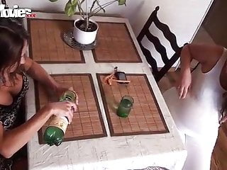 Russian pregnant is fucked by her gf...