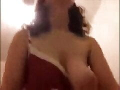 Curly Hair Girl with Tits Out Riding Cowgirl