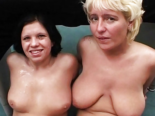 Mom and dauther anal bukkkake orgy...