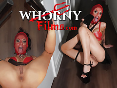 WHORNYFILMS.COM, Submissive masked slut face fucked, hard anal