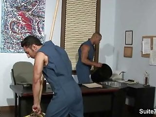 Gay cleaning guys...