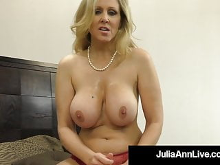 Pretty Busty Milf Julia Ann Milks A Arduous Penis In Her Mouth!