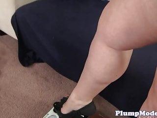 Lesbo banged by busty fatty...