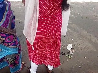 Tamil college girl showing her hot ass at bus stop