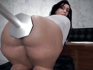 Big booty cartoon bitch gets pounded ass with...