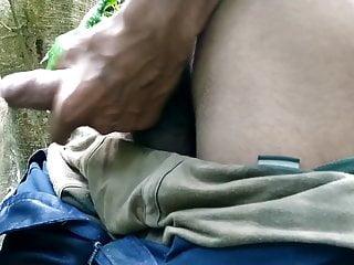 Indian big cock masturbation in outdoor handjob sex...