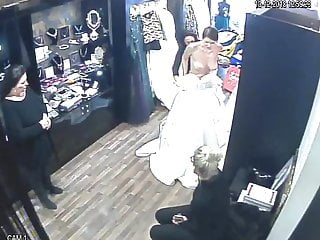 spy camera in the salon of wedding dresses (sorry no sound)