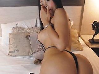 Hot Busty Brunette Babe Fucks Her Cunt
