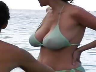 Milf tit beach...