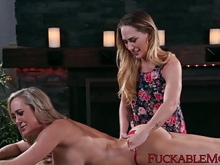 MILF dyke has hot tribbing session with her stepdaughter