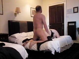 Mounting a horny bbw slut