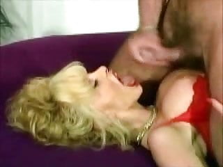 Big-Breasted Blonde german Milf gets a great facial (clip)