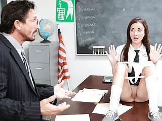 InnocentHigh – Cute Schoolgirl Jade Amber Fucked By Huge Coc