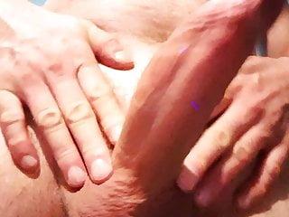 Slapping, masturbating and totally beating my stiff cock
