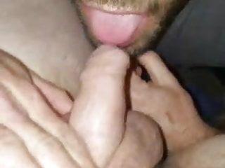 Skinny sucks fat married cock...