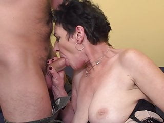 Grandma with amazing tits fuck lucky boy