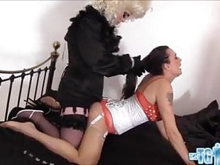 Tgirl has footjob and wank then cums in...