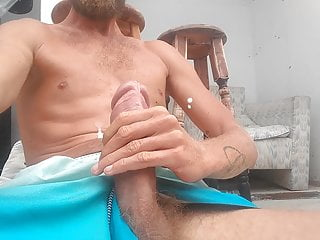 Huge cock wank and cum as a king