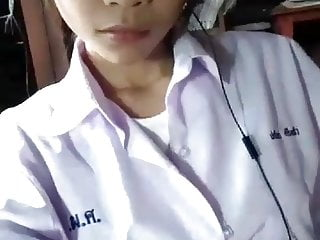 Cute young Thai girl shows her big boobs and pretty pussy