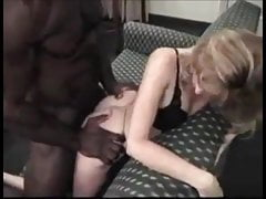 Skinny blonde milf gets fucked and creampied by bbc