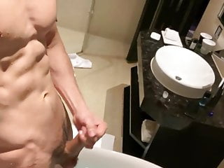 My hot fit hunk body in bath with...