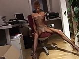 Lovely anorexic secretary