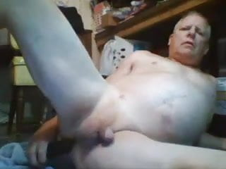 Rentashoe horny daddy gets off with a dildo and shoots cum