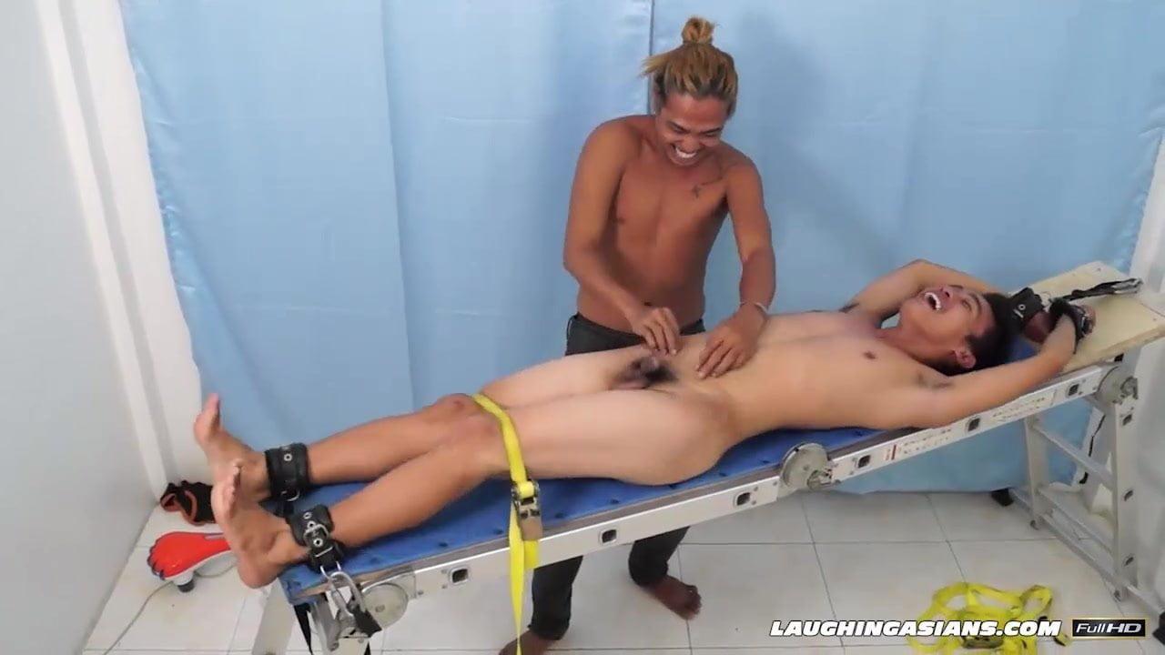 Asian Boy Jojo Bound and Tickled