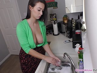 Brazzers step mom cleaning dishs getting fucked Dirty Dishes Clean Cock Xnxx Movies