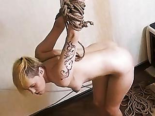 Hot Blonde takes Bondage Bang on Abuse Machine! Legit Cam