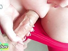 Horny Cute Stepsister Makes Me Cum in Her Panties and Leggings