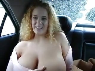 Boobs in the car