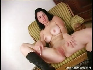 Katka Plays With Juggs & Pussy