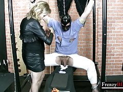 FrenzyBDSM Mature Penis and Man Nipples Torture
