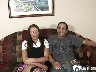 Pussy penetrated deep brunettes hard sl throat mine very