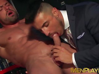 One dude fucked naked while his partner keeps...