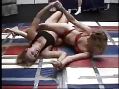 Panty Wrestling Blondes