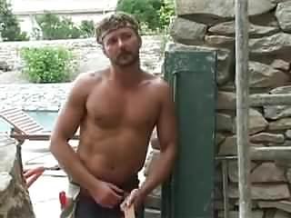 French guy fuck hot arab outside...