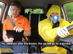 fake driving school  lexi dona takes off her hazmat suitPorn Videos