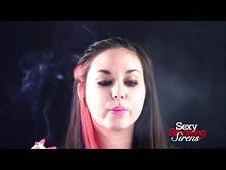 Smoking Fetish - Sexy Brunette Smoking in Your Face
